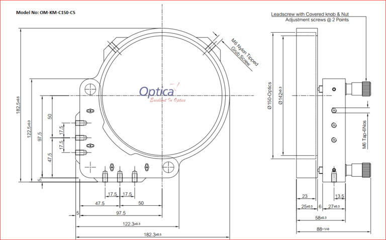 OM-KM-C150-CS Kinematic Mirror Mount for 150mm Mirror